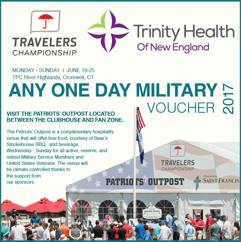 all active reserve and retired military service members must bring a valid id in order to redeem this voucher for a ticket into the tournament