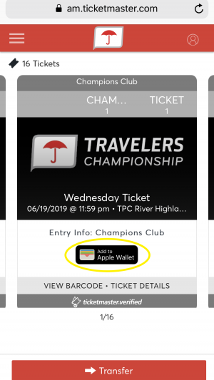 Account Manager Mobile Ticket Transfer