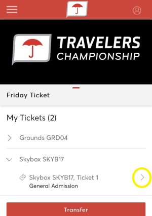 View Ticket Tile